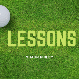 Lessons with our PGA Director of Golf Shaun Finley