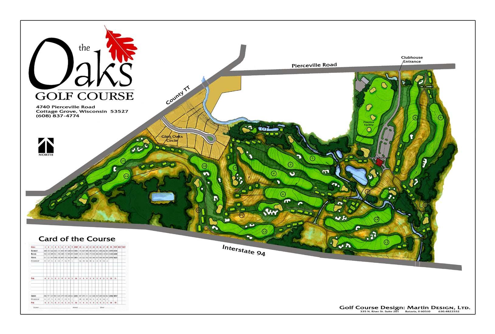 Oaks Course Rendering